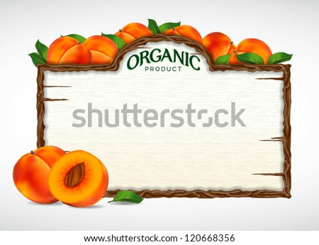 peach menu board - stock vector