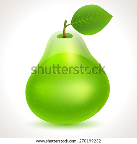 Pear fruit vector icon - stock vector