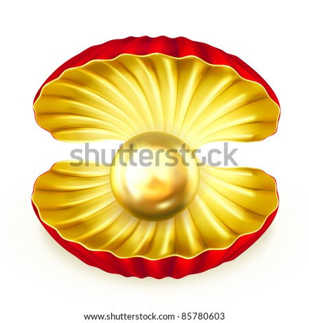 Pearl gold, vector - stock vector