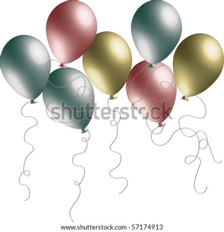 Pearlized 3D Vector Balloons