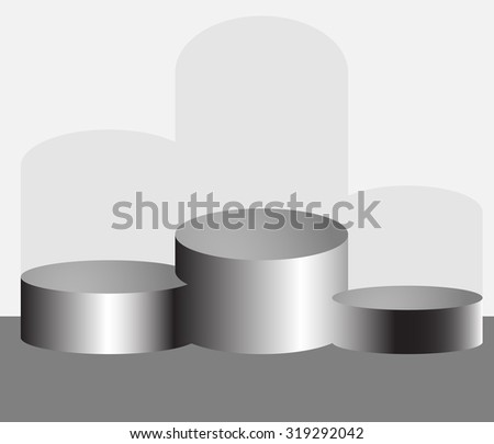 Pedestal podium. Stage and winner, platform and place, vector graphic illustration