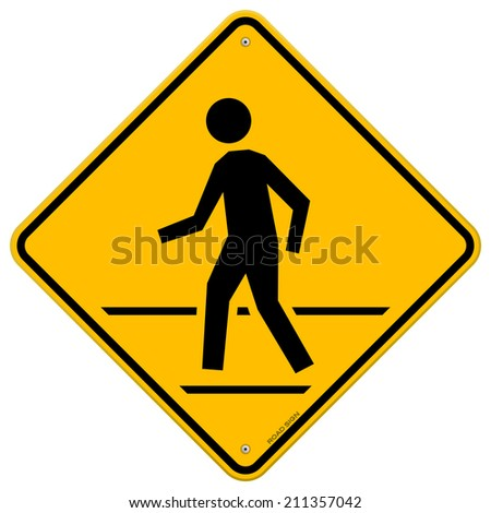 Pedestrian Traffic Sign - stock vector