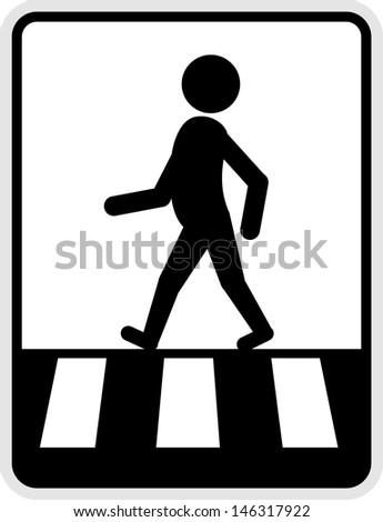 Pedestrian  vector - stock vector