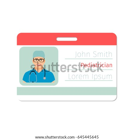 Pediatrician Medical Specialist Badge Template Game Stock Vector ...