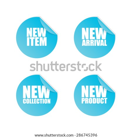Peeled New Sticker Labels - stock vector