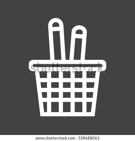 Pen, holder, pencil icon vector image. Can also be used for office. Suitable for web apps, mobile apps and print media. - stock vector