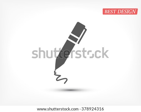 Pen icon, pen icon eps 10, pen icon vector, pen icon illustration, pen icon jpg, pen icon picture, pen icon flat, pen icon design, pen icon web, pen icon art, pen icon JPG, pen icon image - stock vector