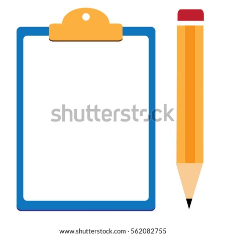 pencil clipboard vector vector modern flat stock vector 2018 rh shutterstock com clipboard vector art clipboard vector png