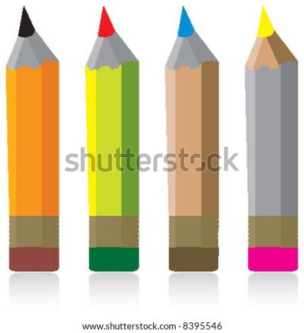 pencil, coloring, colouring - stock vector