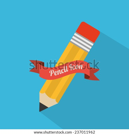 pencil design - stock vector