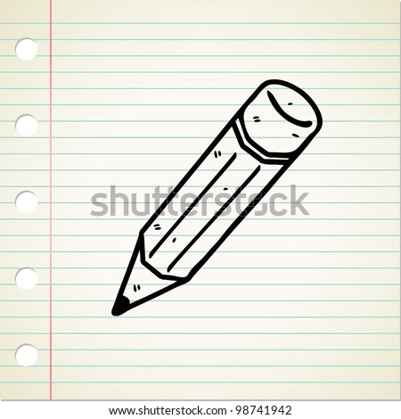 pencil doodle - stock vector
