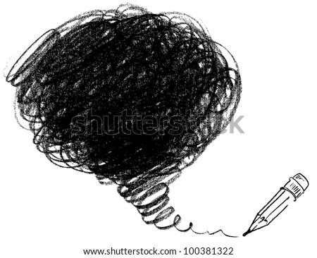 Pencil drawing. Vector illustration. - stock vector