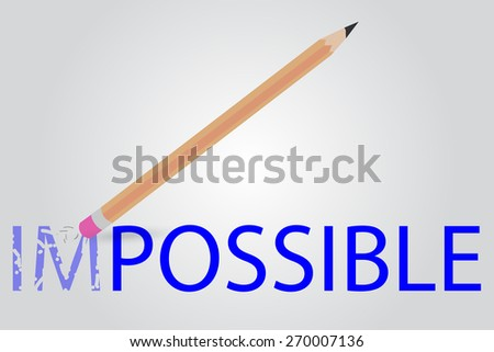Pencil - Erasing Text Impossible  - stock vector