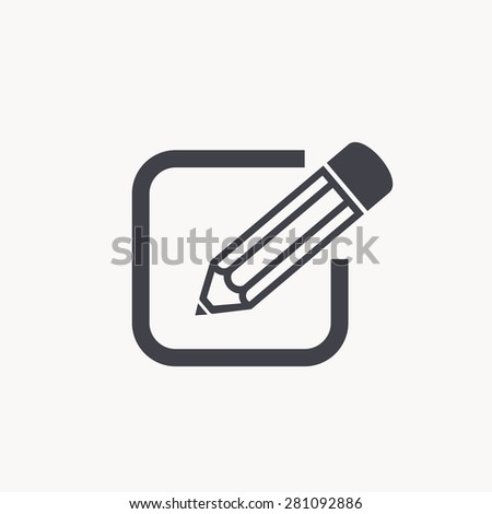 pencil icon - stock vector