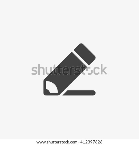 Pencil Icon in trendy flat style isolated on grey background. Edit symbol for your web design, logo, UI. Vector illustration, EPS10. - stock vector