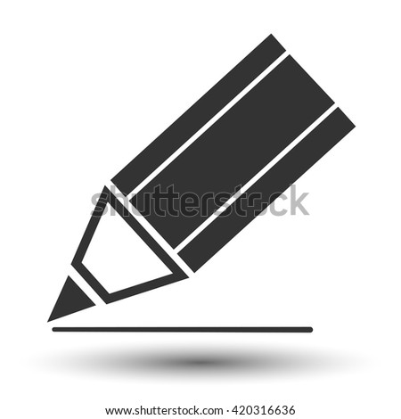 Pencil icon. Pencil flat logo. Pencil symbol illustration. - stock vector