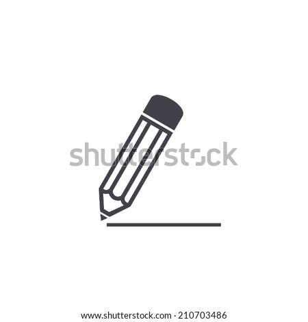 pencil icon , vector illustration  - stock vector