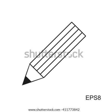 Pencil Icon Vector. Pencil Icon JPEG. Pencil Icon Picture. Pencil Icon Image. Pencil Icon Graphic. Pencil Icon Art. Pencil Icon JPG. Pencil Icon EPS. Pencil Icon AI. Pencil Icon simple. Pencil Icon  - stock vector
