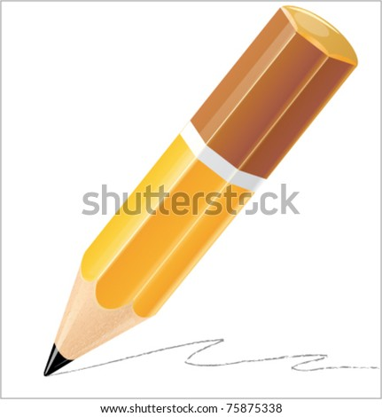 Pencil isolated detailed vector illustration - stock vector