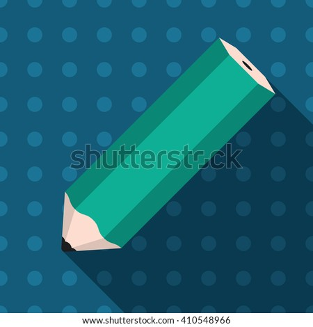 Pencil on pattern background - stock vector
