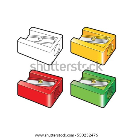 Pencil sharpener stock images royalty free images for Pencil sharpener coloring page