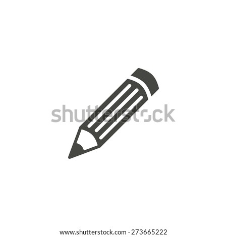 Pencil - vector icon in black on a white background. - stock vector