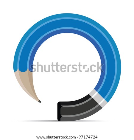 pencil vector illustration isolated on white background - stock vector