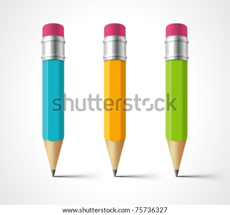 Pencil vector illustration set. Eps 10. - stock vector