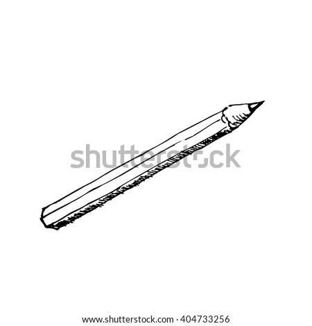 Pencil vector sketch drawing