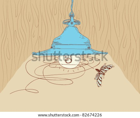 pendant lamp. - stock vector