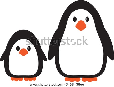 Penguin, Cartoon, Vector, Illustration - stock vector