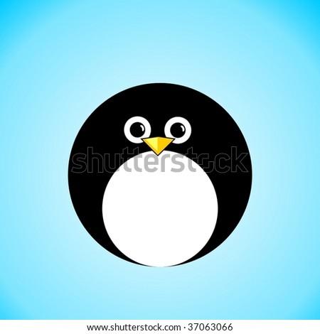 penguin icon VECTOR - stock vector