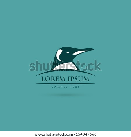 Penguin sign - vector illustration - stock vector