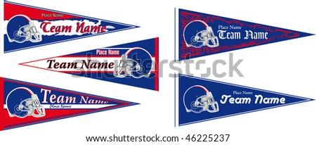 pennant's Football team Blue - stock vector