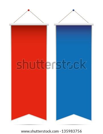 Pennants on white background. Vector - stock vector
