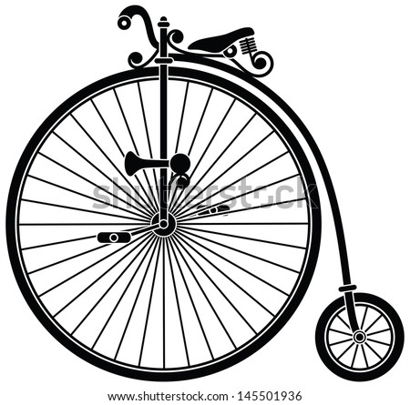 Penny Farthing Bicycle - stock vector