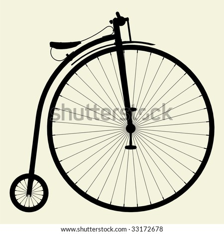 Penny-Farthing Bicycle Vector 01 - stock vector