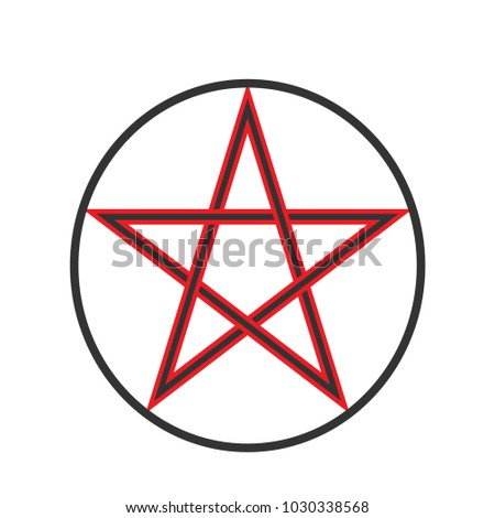 Pentacle Vector Symbol Wizard Amulet Pentagram Stock Vector