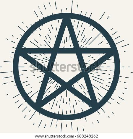 Pentagram Icon Magic Occult Star Symbol Stock Vector 688248262