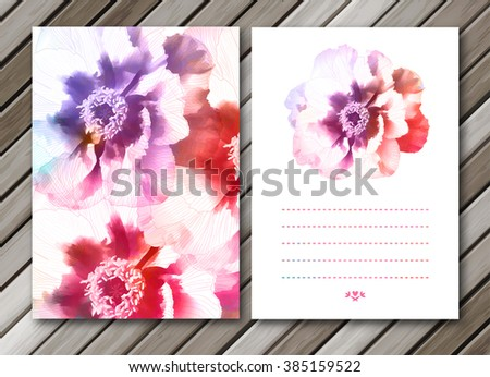 Peony flowers backgrounds. Vector, EPS10 - stock vector
