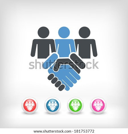 People agreement icon - stock vector