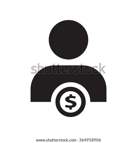 people and money icon - stock vector