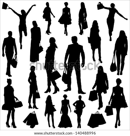 People and shopping - stock vector