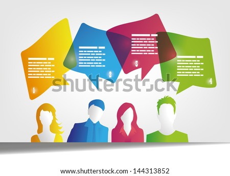 people and speech bubbles design - stock vector