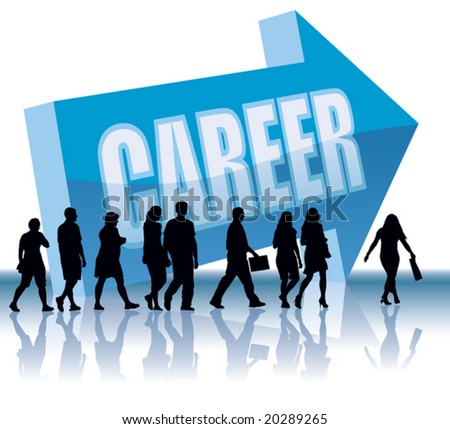 People are going to a direction - Career. - stock vector
