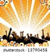 People at the concert - stock vector
