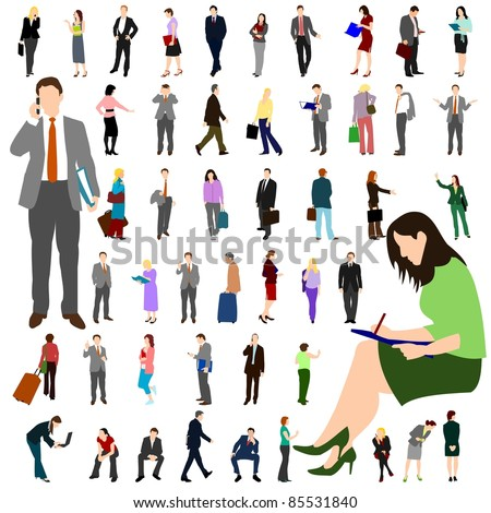 People - Business - Large Set 01 - stock vector
