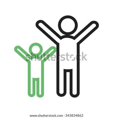 People, celebrating, party icon vector image. Can also be used for party. Suitable for use on web apps, mobile apps and print media. - stock vector
