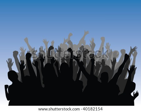 people celebrating vector - stock vector