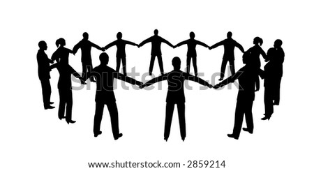 people circle male female - stock vector